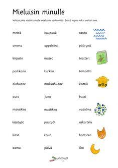 Suulliset tehtävät - Värinautit Learn Finnish, Finnish Language, Childcare Activities, Daily Math, Happy Together, Special Education, Back To School, Teaching, Kids
