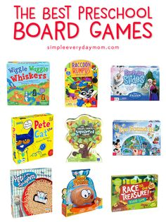 Best Preschool Board Games | Have fun and connect with your kids with these board games for preschoolers #preschooler #preschoolactivities #preschoolteacher #boardgames #prek #ideasforkids #simpleeverydaymom