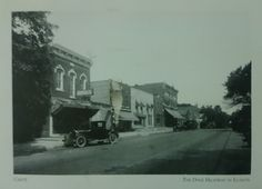 Postcard received from the USA: The Dixie Highway in Crete, Illinois (swap: Pick 1 Postcard (Feb))