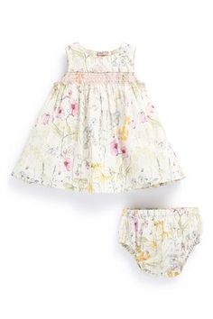 All Over Print Floral Dress And Pants Set (0-18mths)