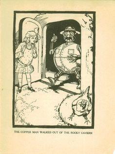 Ozma of OZ, L Frank Baum; Dorothy rescuing Tik Tok