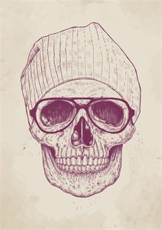 Cool Skull Art Print maybe add ginger hair?