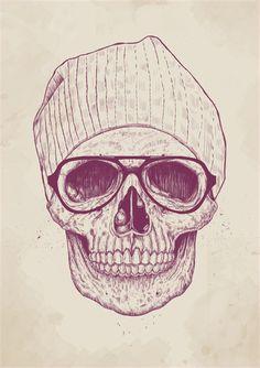 """Cool skull"" Art Print by Balázs Solti on Society6."
