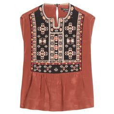 Isabel Marant - Russ embroidered silk top