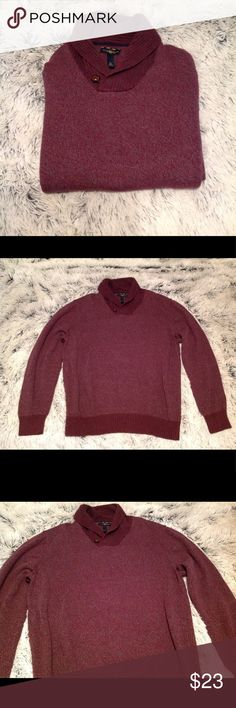 Men's Club Room purple sweater Really nice men's sweater by Club Room in great condition! Was only worn from my bf a few times and was purchased at Macy's. Stretchable and warm Club Room Sweaters