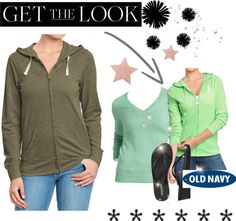 """old navy tee shirt hoodie #6"" by kitty-wasch on Polyvore"
