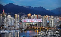 I would love to visit Vancouver Canada. I have been to Canada many times, but I would love to visit the mountains! Vancouver Skyline, Visit Vancouver, Vancouver Travel, Downtown Vancouver, North Vancouver, Bc Place, Places To Travel, Places To Visit, Vancouver British Columbia