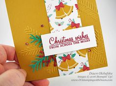 Stampin' Up! Holly Berry Happiness & Pretty Pines Thinlits card created by…