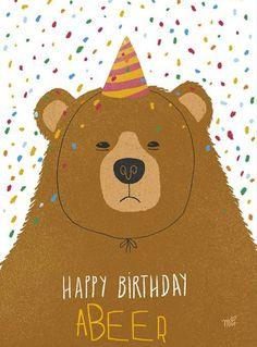 Happy Birthday Ma, Big Birthday Cards, Happy Birthday Wishes Cards, Handmade Birthday Cards, Happy Birthday Illustration, Illustration Inspiration, Birthday Congratulations, Happy B Day, Birthday Pictures