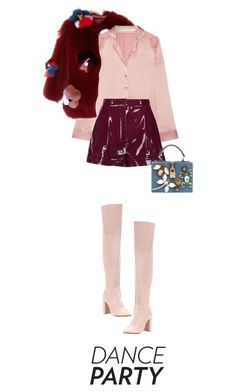 """""""107/365: Time to Celebrate!"""" by lizzyzi ❤ liked on Polyvore featuring Fendi, I.D. SARRIERI, Valentino, Gianvito Rossi, Fallon and Dolce&Gabbana"""