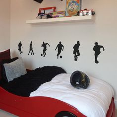 set of six footballer wall stickers by nutmeg | notonthehighstreet.com Stewart would love this