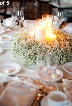 simple for around the centerpieces
