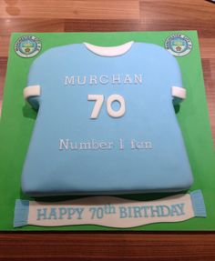 Manchester city shirt birthday cake