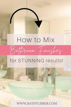 You can mix finishes in the bathroom if you know the rules! Get designer tips to will help you achieve stunning results. Learn how to easily create an upscale, custom look. Bathroom finishes. Bathroom finishes ideas. Bathroom finishes mixing. Mixing metal finishes in bathroom. Mixing finishes in bathroom.#bathroomfinishes #bathroomfinishesideas #bathroomfinishesmixing #mixingmetalfinishesinbathroom #mixingfinishesinbathroom Small Bathroom Ideas On A Budget, Very Small Bathroom, Spa Like Bathroom, Elegant Bathroom Decor, Bathroom Accessories Luxury, Tub Shower Combo, Diy Bathroom Remodel, Relaxing Bath, Decorating Small Spaces