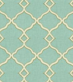 Uphostery Fabric-Waverly  Chippendale Fretwork Mist