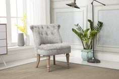 GFA Cotswold Stylish Soft Occasional Faux Wool Fabric Accent Chair In Stone