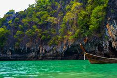 Cliffs and clear water in #Thailand. Photo by Christopher Higham.