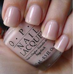 Pretty sheer blush-y nude polish color.