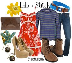 Lilo and Stich- I think this is one I could get my hubs to do! (minus hte boots and belt but still) :)
