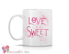 Coffee Mug, Ceramic Mug, Pray Often Coffee Mug, 11oz or 15oz, Watercolor Art Print Mug, Two-Sided Print, by AmourableArt