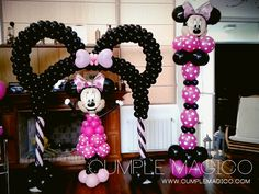 Decoracion en globos Minnie                                                                                                                                                      Más