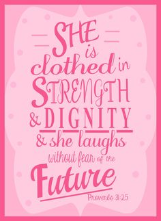 Bible Verse Art She is Clothed in Strength by SweetestPie on Etsy