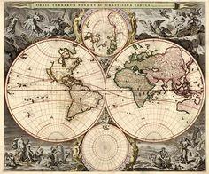 Ancienne Carte du Monde – Orbis Terrarum Nova et Accuratissima Tabula
