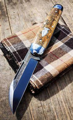 It's a Man's World Cool Knives, Knives And Tools, Knives And Swords, Blacksmithing Knives, Knife Stand, Tactical Pocket Knife, Custom Pocket Knives, Custom Knives, Edc Knife