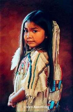"Little White Feather's Cradleboard - Artist Karen Noles - ""I am a Child"""