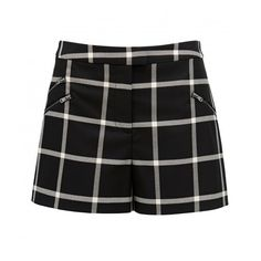 Forever New Willow Window Pane Short (355 MXN) ❤ liked on Polyvore featuring forever new