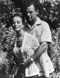 Capucine and William Holden-they had an affair while he was married to actress Brenda Marshall