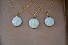 MAN In The MOON Necklace /// Electroformed Carved by luxdivine