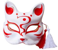 High-Quality-Yamato-Style-Hand-draw-Mask-Japanese-Fox-Mask Kitsune Mask, Oni Mask, Skull Mask, Drawn Mask, Japanese Fox Mask, Mask Drawing, Fox Spirit, Japan Tattoo, Kawaii Accessories