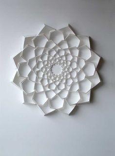 paper sculpture #flower image #paperart