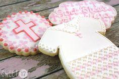 Baby Baptism Sugar Cookies Sweet17Cookies.Etsy.com