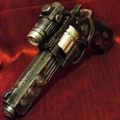 Steampunk gun Victorian laser light and sound Zombie Fall Out toy OldJunkyardBoutique http://smile.amazon.com/dp/B00773CBQE/ref=cm_sw_r_pi_dp_eo3Itb06D5GAKHBT