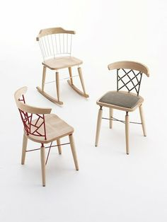 Edi Perini's Uniq chairs for Cignini Arredamenti