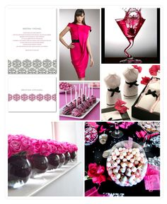 pink/black - love the black vases with pink roses!