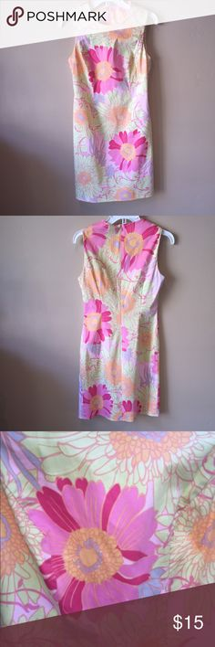 Talbots Dress (has stretch) Cotton/spandex shift in pretty summer print. Back zipper. Check out the $6 section of my closet (before the sold items). Lots of bundle-worthy $6 items! 15% bundle discount on 2+ items in a bundle.NO TRADES Talbots Dresses