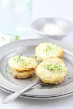 Parmesan Scalloped Potato Stacks with Ham www.bellalimento.com