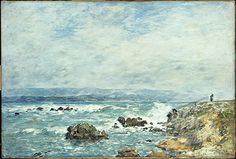 Antibes, La Pointe de L'Ilette 1893 Eugene Louis Boudin (1824-1898 French) Christie's Images, New York