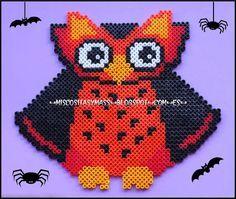 Halloween owl hama perler beads by Emar❀