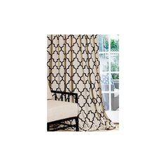 Grey Beige Cream Lattice Quatrefoil Curtains Rod Pocket 63 72 84