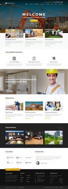 Website Design Inspiration, Best Website Design, Website Design Layout, Layout Design, Design Web, Rose Design, Construction Website, Construction Business, Construction Design