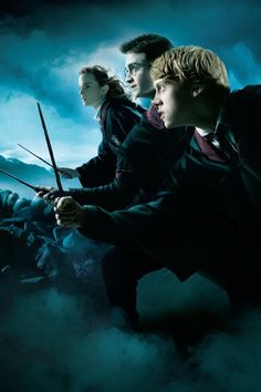 Harry Potter and the Deathly Hallows movie poster of Harry, Ron and Hermione