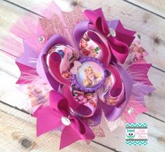 OTT Tangled Stacked Boutique Bow Rapunzel Bow por poshbowtiquebows, $12.50