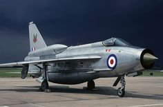 English Electric Lightning high altitude interceptor fitted with over wing external fuel tanks