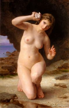 Woman with a Seashell, William Adolphe Bouguereau