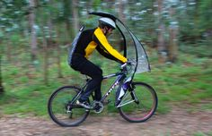 Keep safe and dry when cycling with the hands-free LeafXPro bicycle umbrella! Bicycle Rims, Bicycle Parts, Bike Motor, Bike Trailer, Cycling Accessories, Bike Seat, Bicycle Design, Cycling Bikes, Bike Life