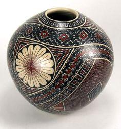 Ortiz Pottery | Details about Mata Ortiz Pottery by Graciela Martinez -Geometric Olla